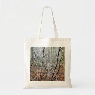 Web of European Garden Spider Tote Bag