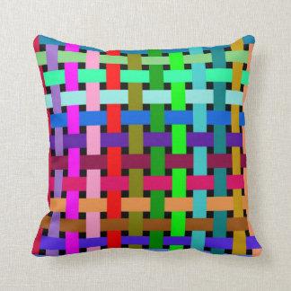 Web optics throw pillow