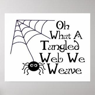 Web spider embrouillé poster