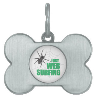 Web Surfing Pet Name Tags