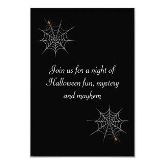 """Webbed Desire"" Halloween Party Card"