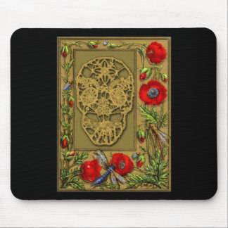 Webbed Skull Day of the Dead Halloween Gothic Mouse Pad