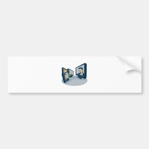 Webinar Video Conference Retro Bumper Stickers