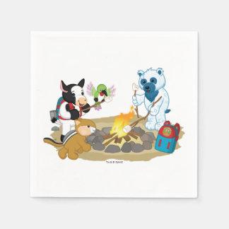Webkinz   Campfire Marshmallows Disposable Napkins
