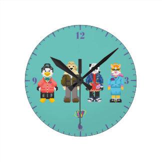 Webkinz Pixel Hosts Wall Clocks