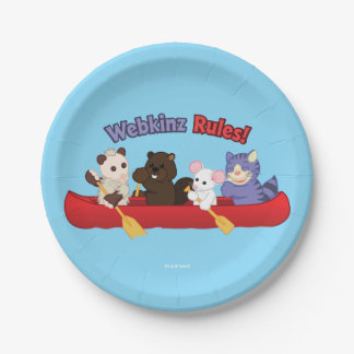 Webkinz | Webkinz Rules Canoe Trip 7 Inch Paper Plate