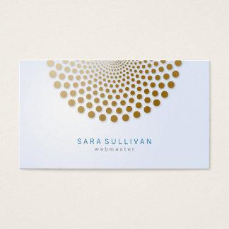 Webmaster Business Card Circle Dots Motif