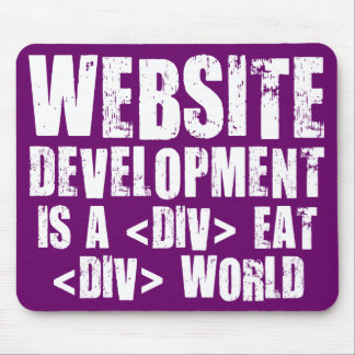 Website development is a competitive career choice mouse pad
