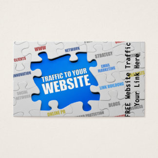 Website Traffic Business Card