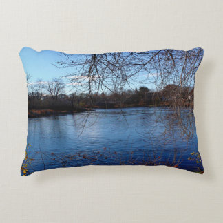 Webster Park Late Autumn Landscape 2015 Decorative Pillow