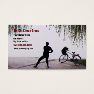 Wecoming A Brand New Day With Tai Chi Business Card