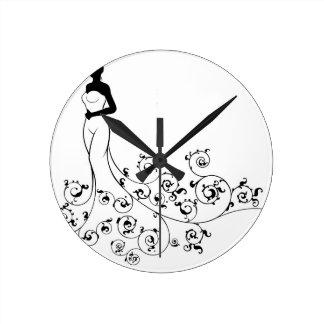 Wedding Abstract Bride Silhouette Clock