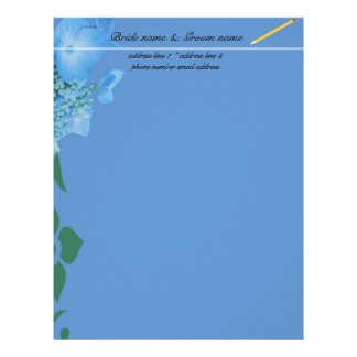 wedding accessary for bride and groom personalized letterhead