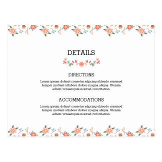 Wedding Accommodation Card