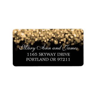 Wedding Address Gold Lights