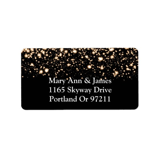 Wedding Address Gold Midnight Glam