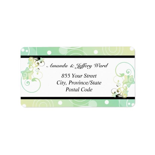 Wedding Address Label | Bubble Star Fairy Tale