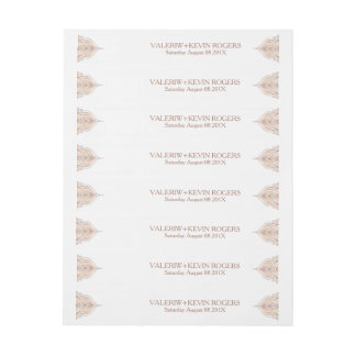 Wedding Address Label Rose-gold Ornate Lace Decor