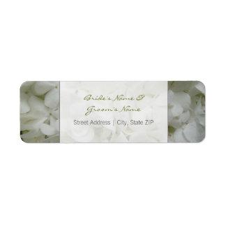 Wedding Address Label - White Flowers