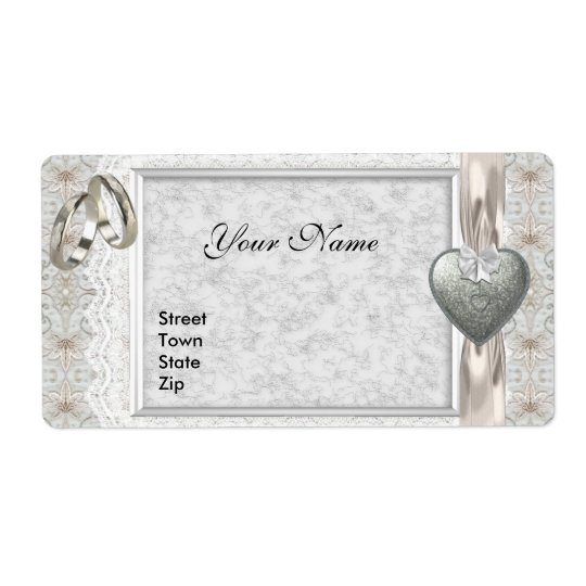 Wedding Address Labels Engagement White Lace