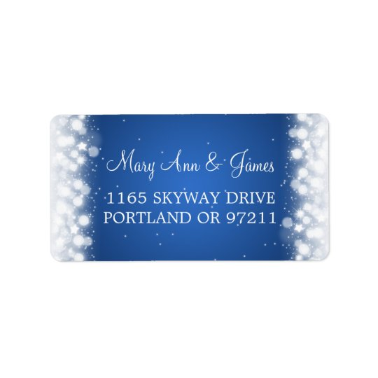 Wedding Address Love Magic Sparkle Blue