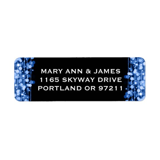 Wedding Address Party Sparkles Blue