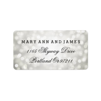 Wedding Address Silver Glitter Lights