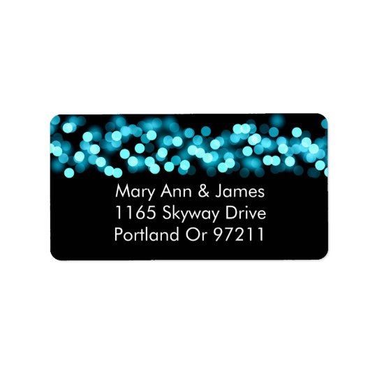 Wedding Address Turquoise Hollywood Glam Label