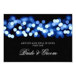 "Wedding Advice Card Blue Hollywood Glam 3.5"" X 5"" Invitation Card"