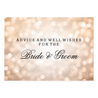 Wedding Advice Card Copper Glitter Lights Business Card Templates