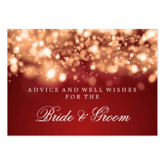 Wedding Advice Card Gold Sparkling Lights Business Cards