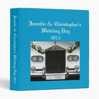 Wedding Album blue custom photo binder