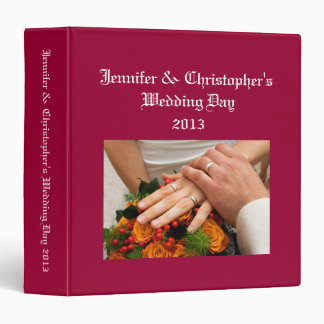 Wedding Album dark red custom photo binder