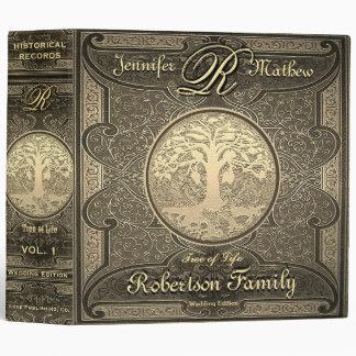 Wedding Album Gold Vintage Retro Romantic Vinyl Binder