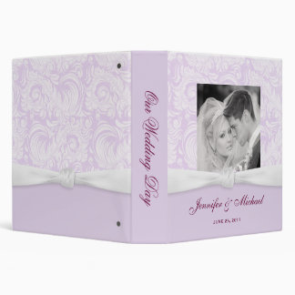 Wedding Album or Planner - Lavender Damask Binder