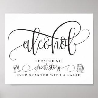 Wedding Alcohol Bar Sign