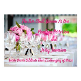 Wedding and Reception Invitation
