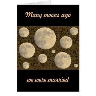 Wedding Aniversary Full Moon Card