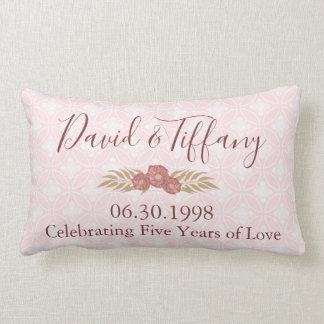 Wedding Anniversary 5 years of love Lumbar Pillow