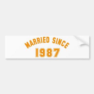 wedding anniversary adhésifs pour voiture