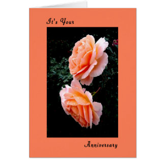 Wedding Anniversary Card with Sonya Roses