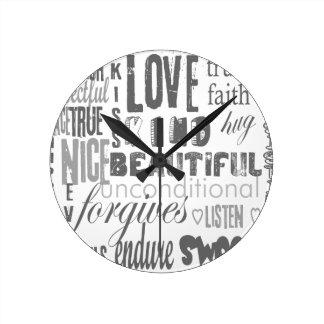 Wedding Anniversary Corinthians Faith Hope Love Wall Clock