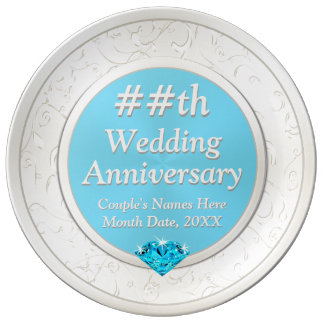 Wedding Anniversary Gift for Wife with YOUR TEXT Plate