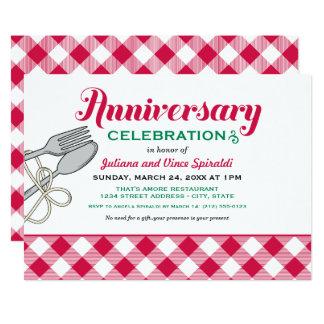 Wedding Anniversary Invitation | Italian Food