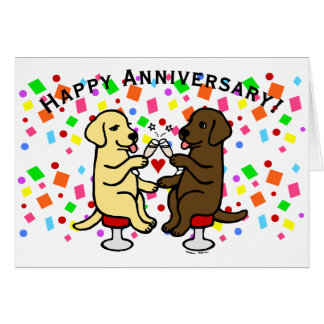 Wedding Anniversary Labradors Greeting Cards