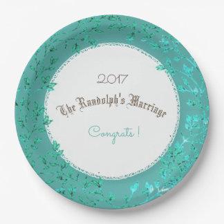 WEDDING-ANNIVERSARY-LUSH-GREEN-SHIMMER-II-TEMPLATE PAPER PLATE