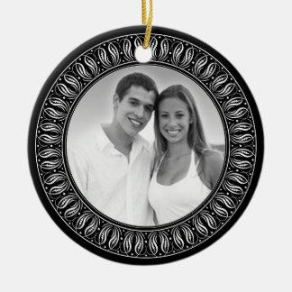 Wedding Anniversary Memento or Gift Round Ceramic Ornament