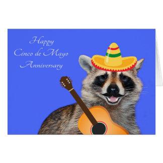 Wedding Anniversary On Cinco de Mayo Card
