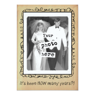 Wedding Anniversary Party Custom Card