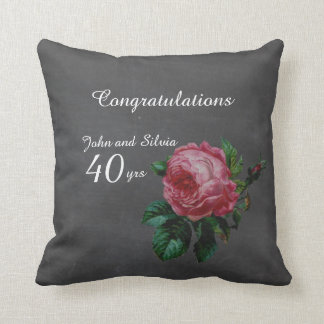 Wedding Anniversary Personalized chalkboard Throw Pillow